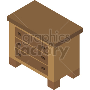 isometric dresser vector icon clipart clipart. Commercial use image # 414192