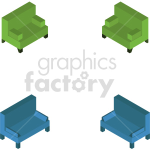 isometric couch vector icon clipart 1 clipart. Commercial use image # 414202