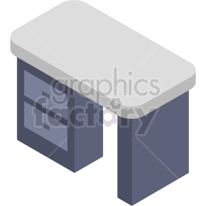 isometric desk vector icon clipart 5 clipart. Commercial use image # 414207