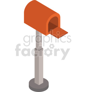 clipart - isometric mail box vector icon clipart 4.
