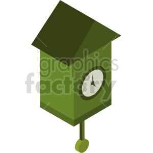 isometric cuckoo clock vector icon clipart 2 clipart. Commercial use image # 414257