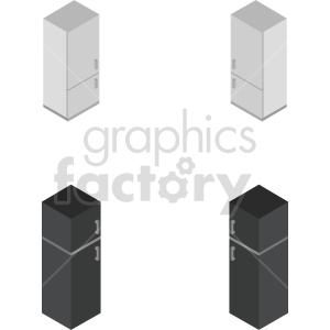 isometric refrigerator vector icon clipart bundle clipart. Commercial use image # 414258