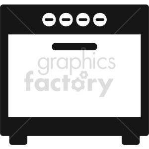 isometric oven vector icon clipart 4
