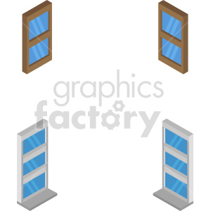 isometric window vector icon clipart 2 clipart. Commercial use image # 414277