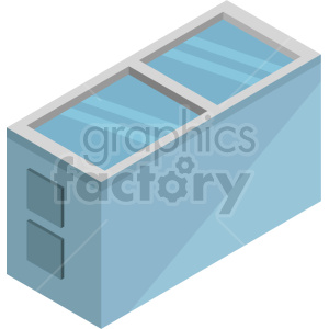 isometric freezer vector icon clipart 3 clipart. Commercial use image # 414281