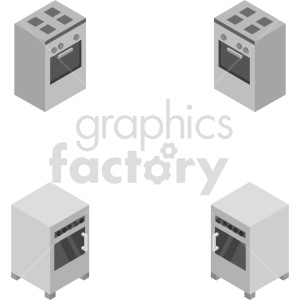 isometric oven vector icon clipart 8 clipart. Commercial use image # 414284