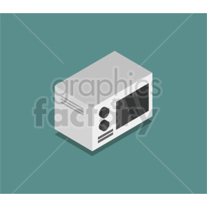 isometric microwave oven vector icon clipart 2 clipart. Commercial use image # 414287