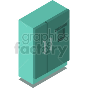 isometric refrigerator vector icon clipart 6 clipart. Commercial use image # 414293
