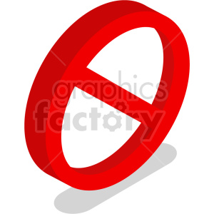 isometric ban cancel symbol vector icon clipart 8