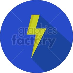 isometric lightning vector icon clipart 5