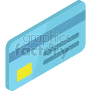 isometric credit card vector icon clipart 3 clipart. Commercial use image # 414386