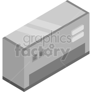 isometric air conditioner vector icon clipart 3 clipart. Commercial use image # 414405