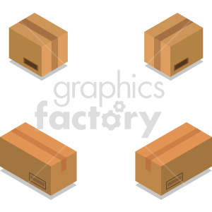 isometric boxes vector icon clipart 1 clipart. Commercial use image # 414418