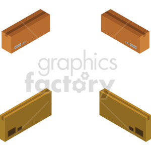 isometric boxes vector icon clipart 4 clipart. Commercial use image # 414429
