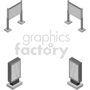isometric billboard vector icon clipart 1 clipart. Commercial use image # 414452
