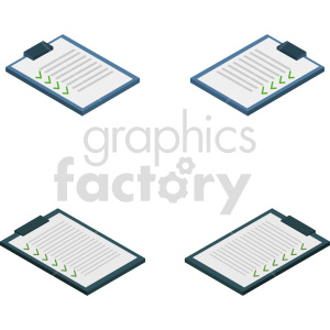 isometric check list vector icon clipart 1 clipart. Commercial use image # 414470