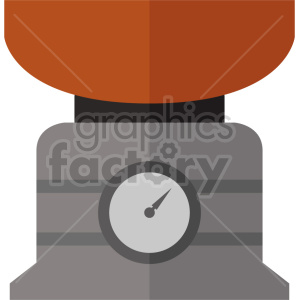 isometric food scale vector icon clipart 2 clipart. Commercial use image # 414474