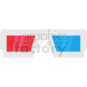 isometric cinema 3d glasses vector icon clipart 3 clipart. Commercial use image # 414496