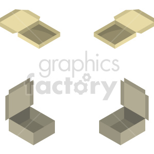 isometric food box vector icon clipart 2 clipart. Commercial use image # 414501
