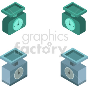 isometric food scale vector icon clipart 5 clipart. Commercial use image # 414502