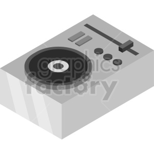 isometric record turn table vector icon clipart 9 clipart. Commercial use image # 414516