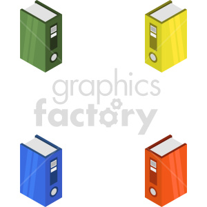 clipart - isometric data floppy disk books vector icon clipart 1.