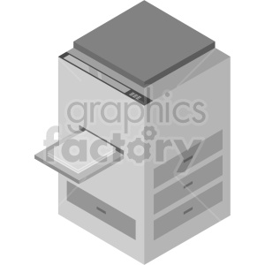 isometric copy machine vector icon clipart clipart. Commercial use image # 414582
