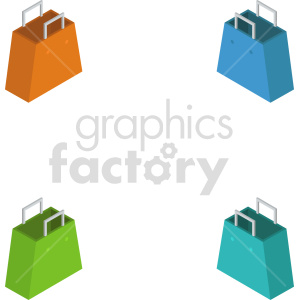 isometric shopping bag vector icon clipart 5 clipart. Commercial use image # 414593