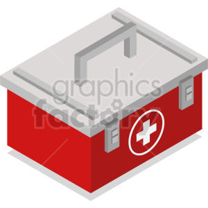 isometric medical kit vector icon clipart 1 clipart. Commercial use image # 414627