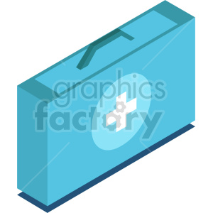 isometric medical bag vector icon clipart 2 clipart. Commercial use image # 414628