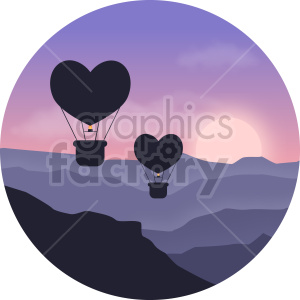 hot air balloons vector clipart icon