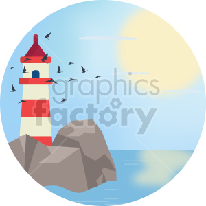 lighthouse vector art clipart. Commercial use image # 414723