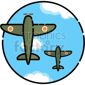 fighter Plane vector clipart icon clipart. Commercial use image # 414726