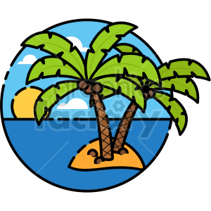 Island vector clipart icon clipart. Commercial use image # 414729