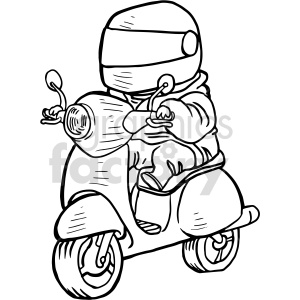 astronaut scooter black and white clipart clipart. Commercial use image # 414787