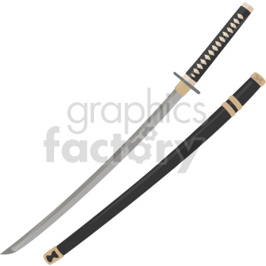 katana with sheath vector graphic clipart. Commercial use image # 414822