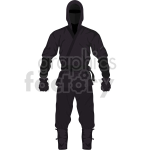 ninja outfit vector graphic clipart. Commercial use image # 414831