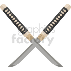 katana knifes vector graphic clipart. Commercial use image # 414834