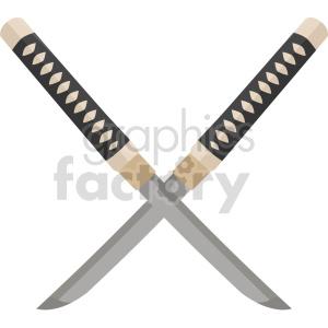 katana knifes vector graphic