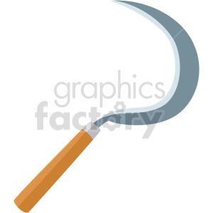 mini garden scythe vector clipart clipart. Commercial use image # 414841