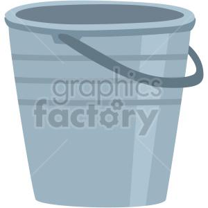 clipart - mini garden metal bucket vector clipart.
