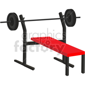 bench press weight bench vector graphic clipart. Commercial use image # 414902