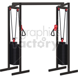 weight exercise machine vector graphic clipart. Commercial use image # 414913