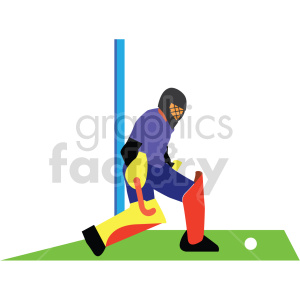 man playing Olympic field hockey vector design clipart. Commercial use image # 414918