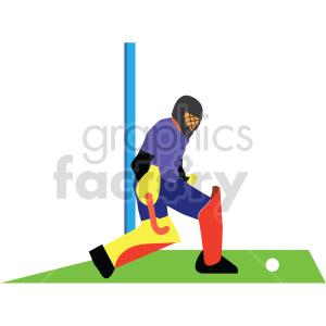 man playing Olympic field hockey vector design