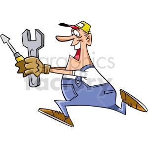 clipart - plumber running clipart.