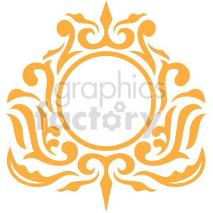 circle frame design vector clipart clipart. Commercial use image # 415068
