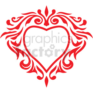 heart frame design vector clipart clipart. Commercial use image # 415074