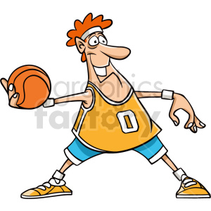 cartoon basketball player passing clipart clipart. Commercial use image # 415084