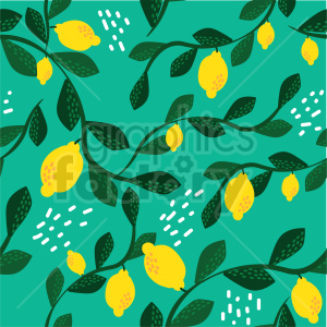seamless lemon tree background graphic clipart. Commercial use image # 415116